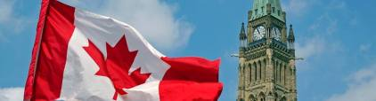 canadian flag and parl