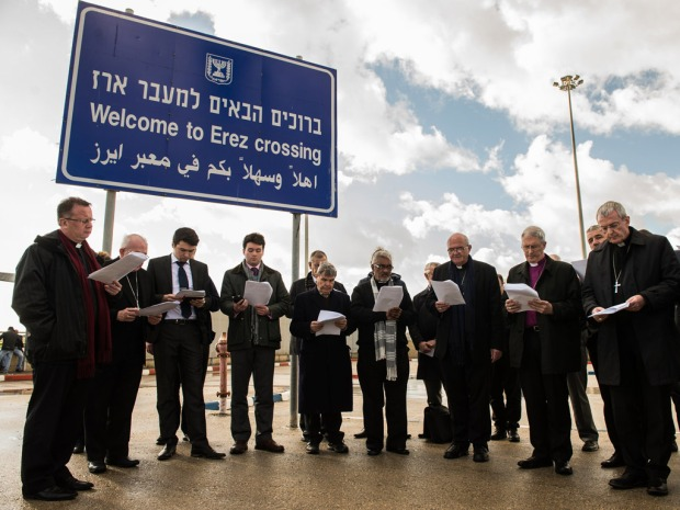 bishop-declan-lang-far-right-and-bishops-of-the-holy-land-coordination-pray-at-the-israel-gaza-border-erez-crossing