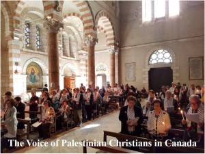 the voice of palestinian christians in Canada