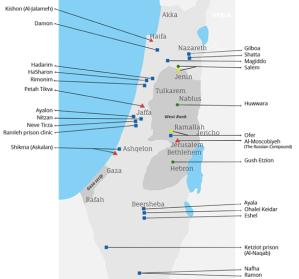 israeli prison map